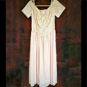 💫80's Vintage Sharade California Long Formal Gown